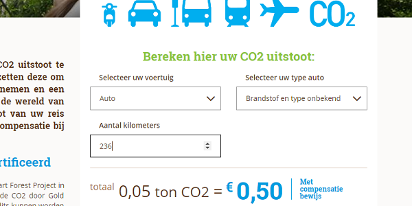 Afval CO2 uitstoot